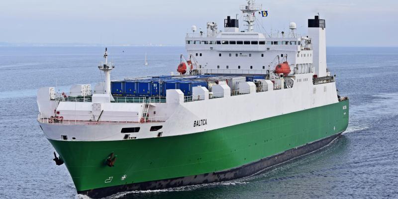 mv Baltica at Sea