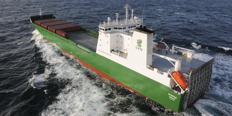 mv Misida at sea