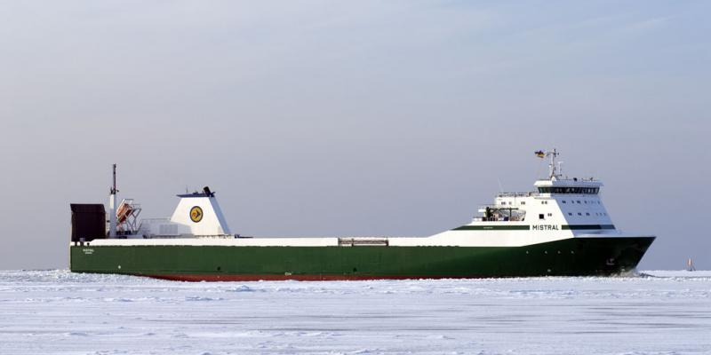 MISTRAL in ice Godby Shipping